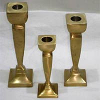 Brass Candle Stand Set