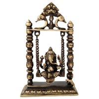 Brass On Swing Ganesha Statue