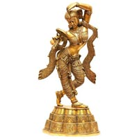 Brass Dancing Lady Statue