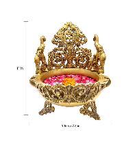 Brass Peacock Design Urli