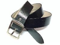 Buff Leather Belts, Black, Pinhole Print