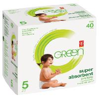 Pc Green Super Absorbent Diapers