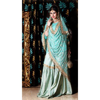 Sea Green Bridal Gharara