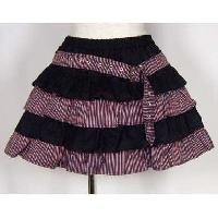 Frilled Denim Skirt