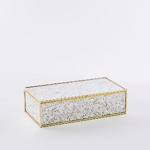Foxed Mirror Jewelry Boxes