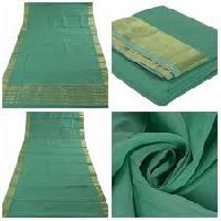 Polyester Cotton Plain Saree