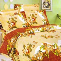 100% Cotton Superb Brown Floral Double Bed Sheet