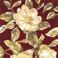 Brown Floral Rug