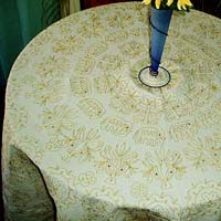 Floral Self Texture Table Cover