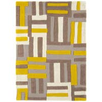 Lined Yellow Rug