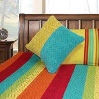 Panipat Handloom Lined Cotton Bedsheet
