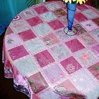 Red Check Table Cover