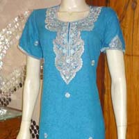 Embroidered Turquoise Gown