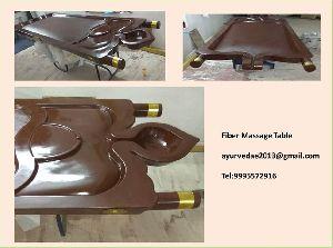 Fiber massage table