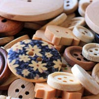 Real Wood Buttons