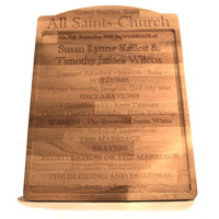 Engraved Wood Products