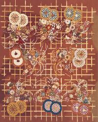 Chain Stitch Silk Rugs
