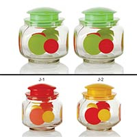 2 Piece Glass Jar Set