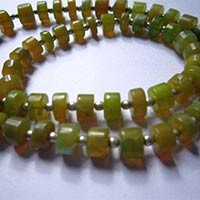 Yellow Opal Tyre Beads