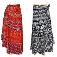 Cotton Wrap Around Skirts