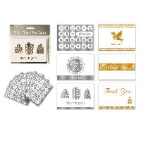FOIL CHRISTMAS THANK YOU CARDS