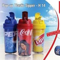 Pop Up Plastic Sipper Bottles