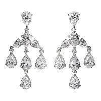 Shimmering Faux Diamond Girandole Earrings