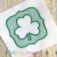 Embossed Shamrock Embroidery Design