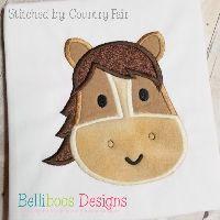 Horse Face Applique Design