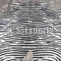 Zebra Stenciled Leather