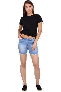 Klorophyl Women Distressed Denim Shorts
