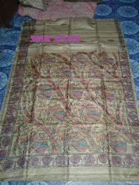 Tasar Ghicha Madhubani Silk Saree
