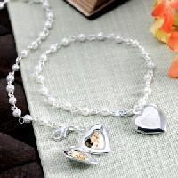Pearl Locket Charm Bracelet