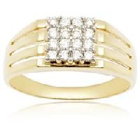 Diamond Studded Gold Gents Rings