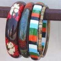 Multi-Colored Glass Bangles