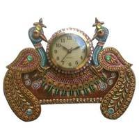 Fancy Peacock Wall Clock