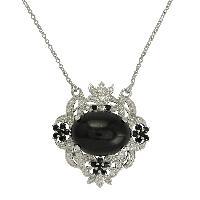 Designer Multi Gemstone 925 Silver Wedding Necklace