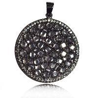 Diamond Polki With White Topaz Gemstone 925 Silver Pendant