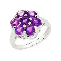 Flower Looking Amethyst Gemstone 925 Sterling Silver Ring