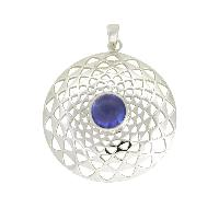 Genuine Tanzanite Gemstone 925 Sterling Silver Pendant
