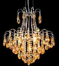 Amber Vienna Glass Chandelier