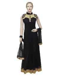 Designer Black Long Floor Length Anarkali Suit