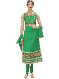 Designer Green Long Straight Suit