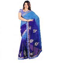 Ethnic Indian Bollywood Chiffon Shaded Blue Saree