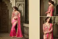 Ethnic Indian Bollywood Georgette Shaded Pink Saree