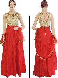 Exclusive Fancy Designer Red Long Floor Length Anarkali Suit