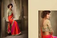 Exclusive Georgette Shaded Multicolored Saree