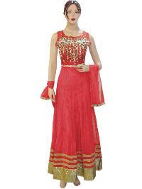 Exclusive Heavy Fancy Designer Pink Long Anarkali Suit