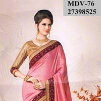 Exclusive Indian Bollywood Imported Fabric Pink Saree