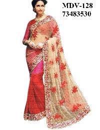 Fancy Ethnic Half Half Saree